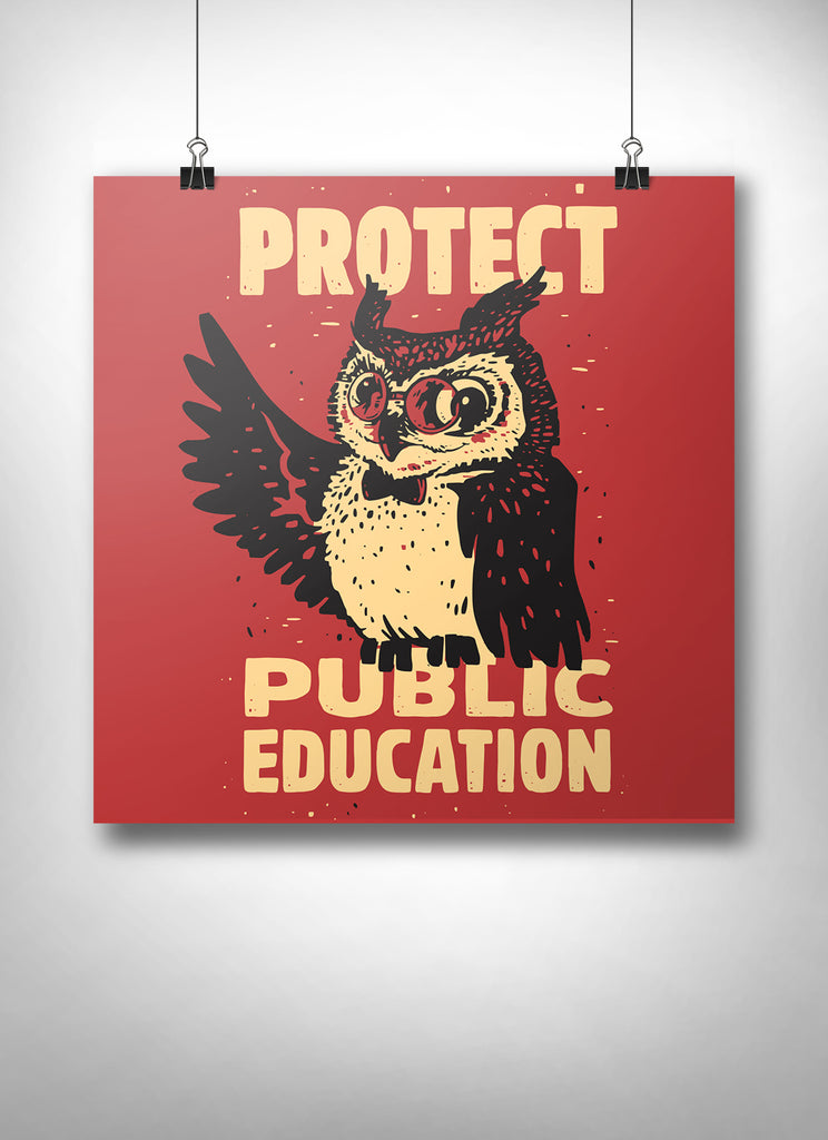 Wise Owl Poster - United State of Indiana: Indiana-Made T-Shirts and Gifts