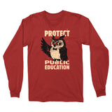 Wise Owl Long Sleeve Tee - United State of Indiana: Indiana-Made T-Shirts and Gifts