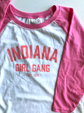 Indiana Girl Gang Youth Baseball Tee - United State of Indiana: Indiana-Made T-Shirts and Gifts