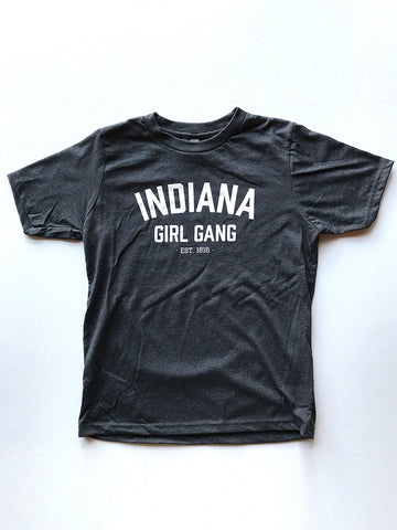 Indiana Girl Gang Youth Tee - United State of Indiana: Indiana-Made T-Shirts and Gifts
