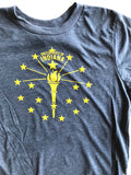 Torch and Stars Youth Tee - United State of Indiana: Indiana-Made T-Shirts and Gifts