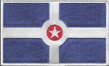 Indianapolis City Flag Iron-On Patch - United State of Indiana: Indiana-Made T-Shirts and Gifts