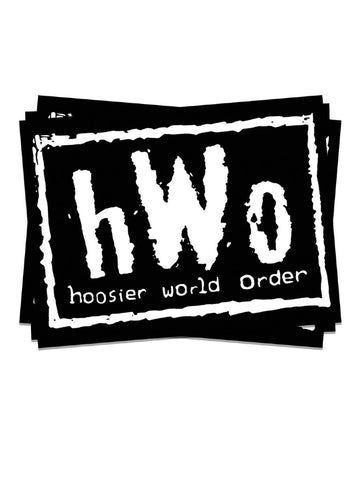Hoosier World Order Sticker - United State of Indiana: Indiana-Made T-Shirts and Gifts