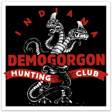 Demogorgon Hunting Club Sticker