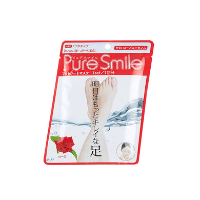 Pure smile foot sheet mask (Rose)