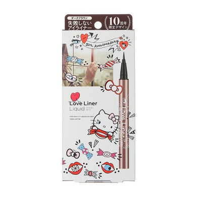 Love Liner Liquid Eyeliner 10th Anniversary Hello Kitty (Dark Brown)