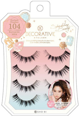 No. 104 for eyelashes, eyelashes and upper eyelashes