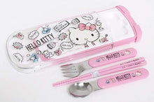 Load image into Gallery viewer, OSK HELLO KITTY CHOPSTICKS/SPOON/FORK SET CT-20