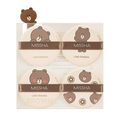 Tension Pact Puff Fitting 4P (LINE FRIENDS Edition)  - Brown