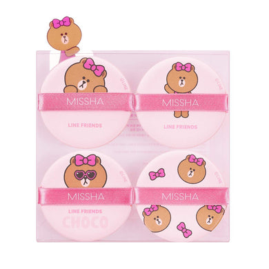 Tension Pact Puff Fitting 4P (LINE FRIENDS Edition)  - Pink