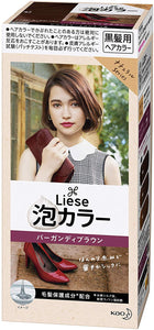 KAO LIESE BUBBLE COLOR BURGUNDY BROWN
