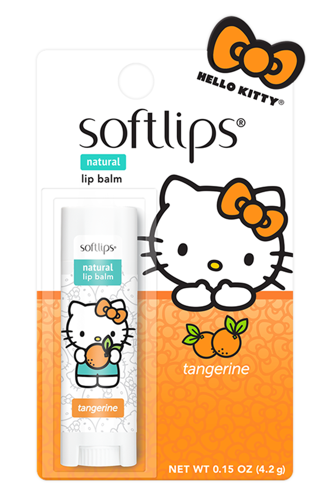 MENTHOLATUM SOFTLIPS LIP BALM HELLO KITTY TANGERINE