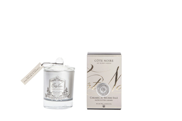 Côte Noire 185g Soy Blend Candle - Salted Butter Caramel - Silver - GMS18502