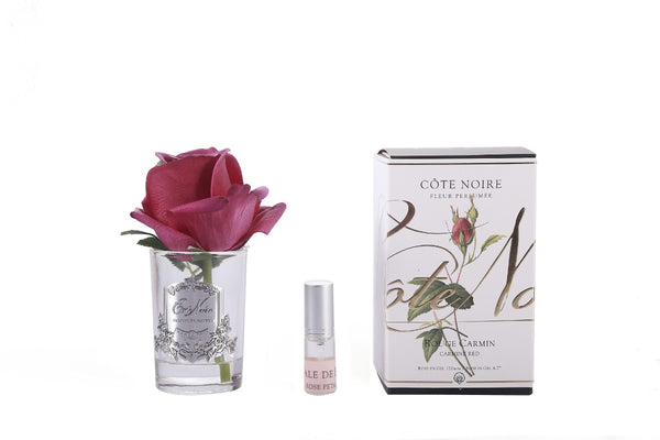 Côte Noire Perfumed Natural Touch Rose Bud - Clear - Carmine Red - GMR44