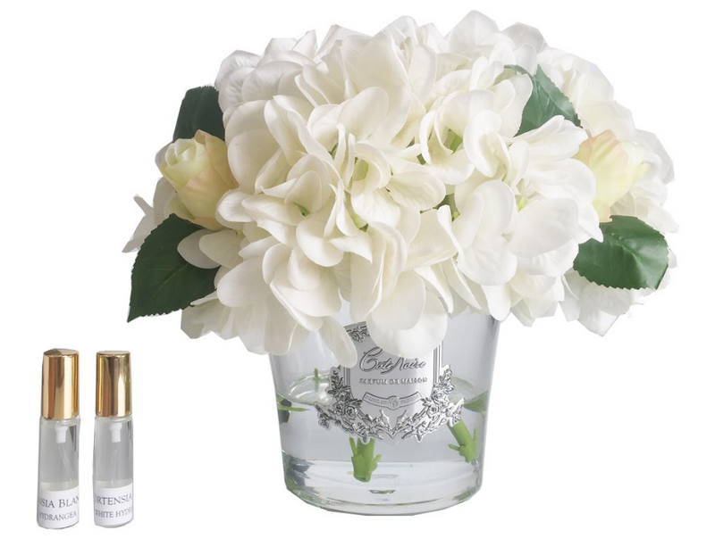 Cote Noire - Hydrangea's & Rose Buds - Ivory - LHRB01