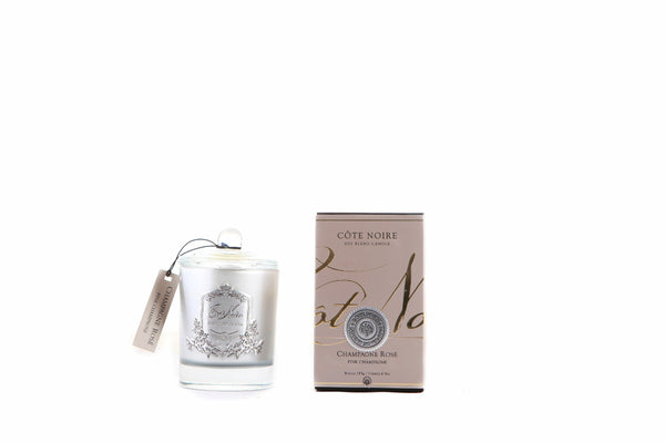 Côte Noire 185g Soy Blend Candle - Pink Champagne - Silver - GMS18518