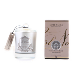 Côte Noire Soy Blend 185g Silver Candle - Pink Champagne 185g