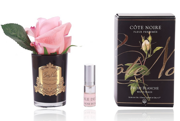 Côte Noire Perfumed Natural Touch Rose Bud - Black - White Peach - GMRB45