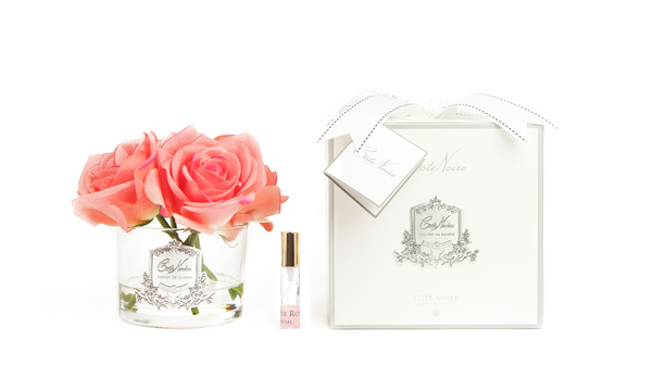 Côte Noire Perfumed Natural Touch 5 Roses - Clear - White Peach - GMR65