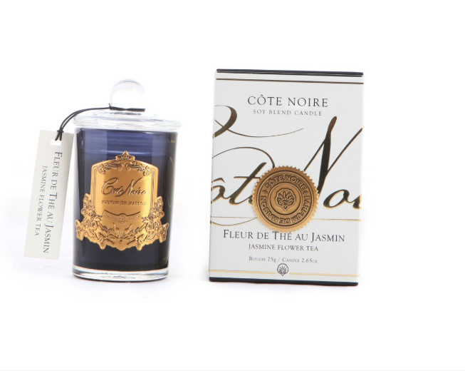 Côte Noire 75g Soy Blend Candle - Jasmine Flower Tea - Gold - GML07520