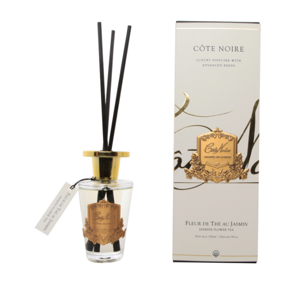 Côte Noire 150ml Diffuser Set - Jasmine Flower Tea - Gold - GMDL15020