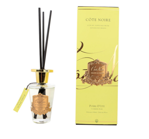 Côte Noire 150ml Diffuser Set - Summer Pear - Gold - GMDL15014