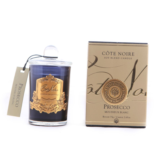 Côte Noire 75g Soy Blend Candle - Prosecco - Gold - GML07532