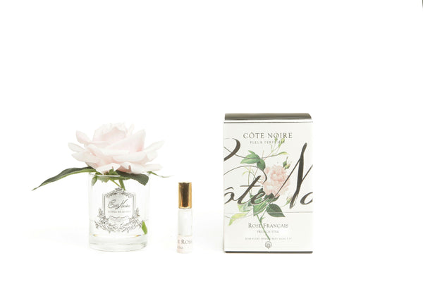 Côte Noire Perfumed Natural Touch Single Rose - Clear- french pink - GMR06