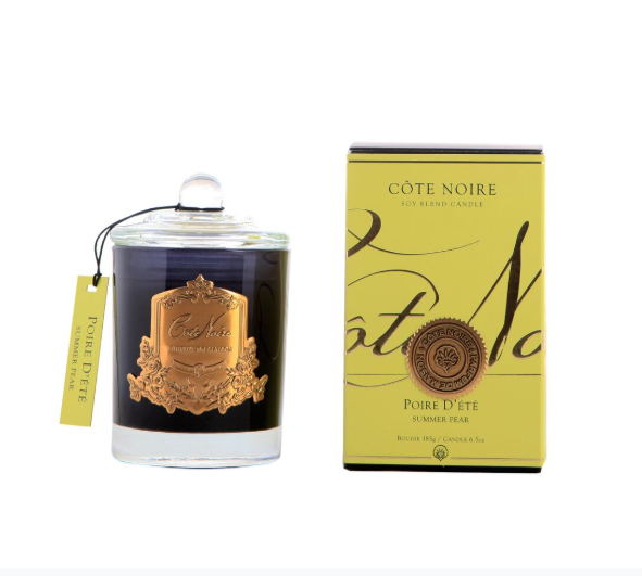 Côte Noire 185g Soy Blend Candle - Summer Pear - Gold - GML18514