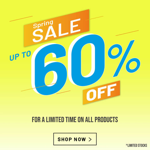 Spring sale - up to 60%