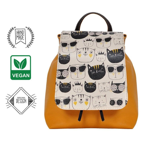 Monochrome Cats DOGO Women's Backpack