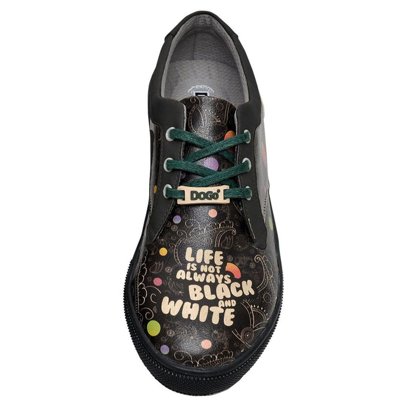 DOGO_Life_is_Not_Always_B&W_Cord_Women_Shoes_5