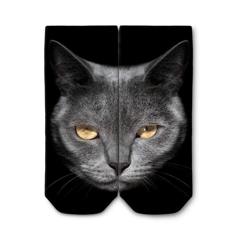 OGOBONGO_Grey_Cat_Ankle_Socks_1