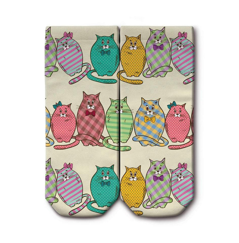OGOBONGO_Colourful_Cats_Ankle_Socks_1