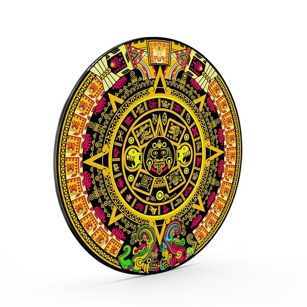 Aztec Medallion Glass Print Wall Art