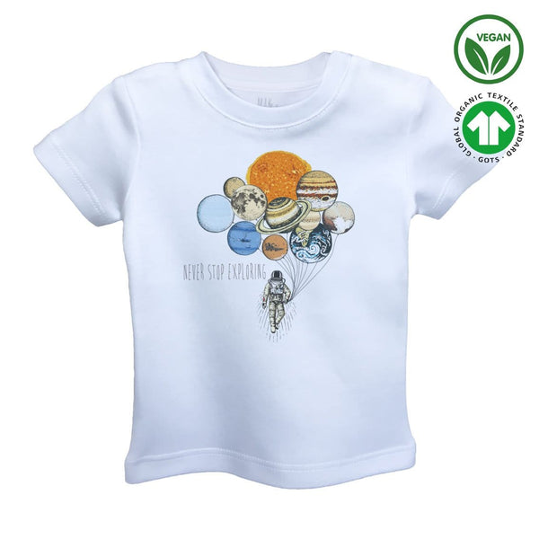 BALLOONS of PLANET Organic Aegean Cotton Unisex Kids T-shirt