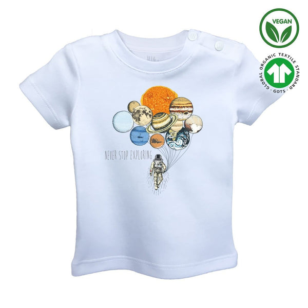 BALLOONS of PLANET Organic Aegean Cotton Unisex Baby T-shirt