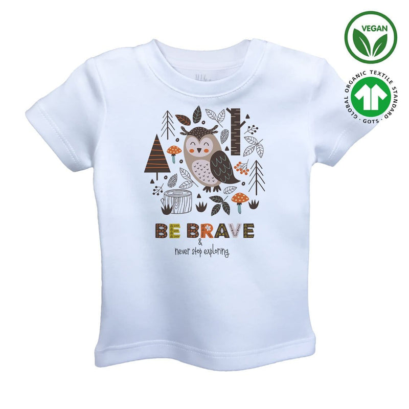 BE BRAVE Organic Aegean Cotton Unisex Kids T-shirt