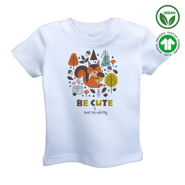 BE CUTE Organic Aegean Cotton Unisex Kids T-shirt