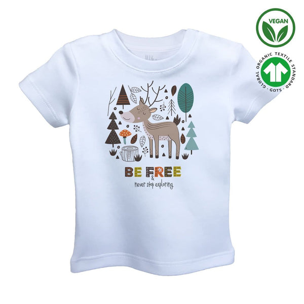 BE FREE Organic Aegean Cotton Unisex Kids T-shirt