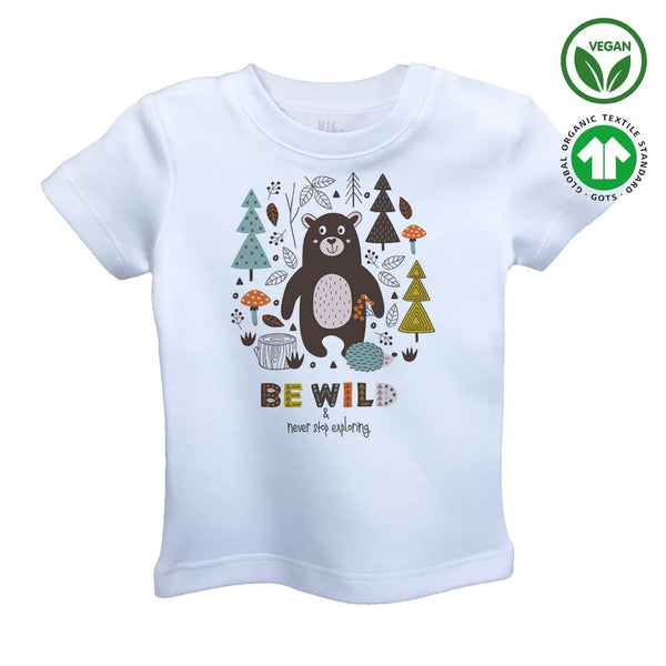 BE WILD Organic Aegean Cotton Unisex Kids T-shirt