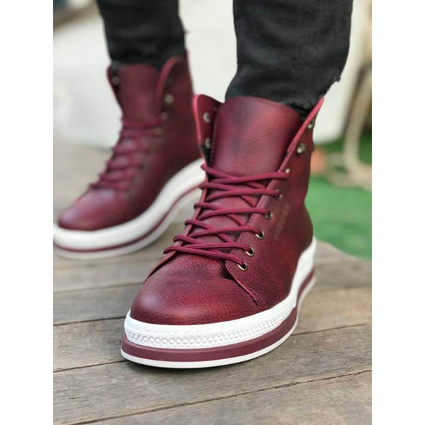 Bordeaux_Skin_White_Sole_Men's_Boot_1
