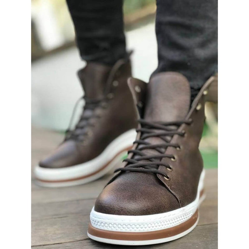 Brown_Skin_White_Sole_Men's_Boot_1