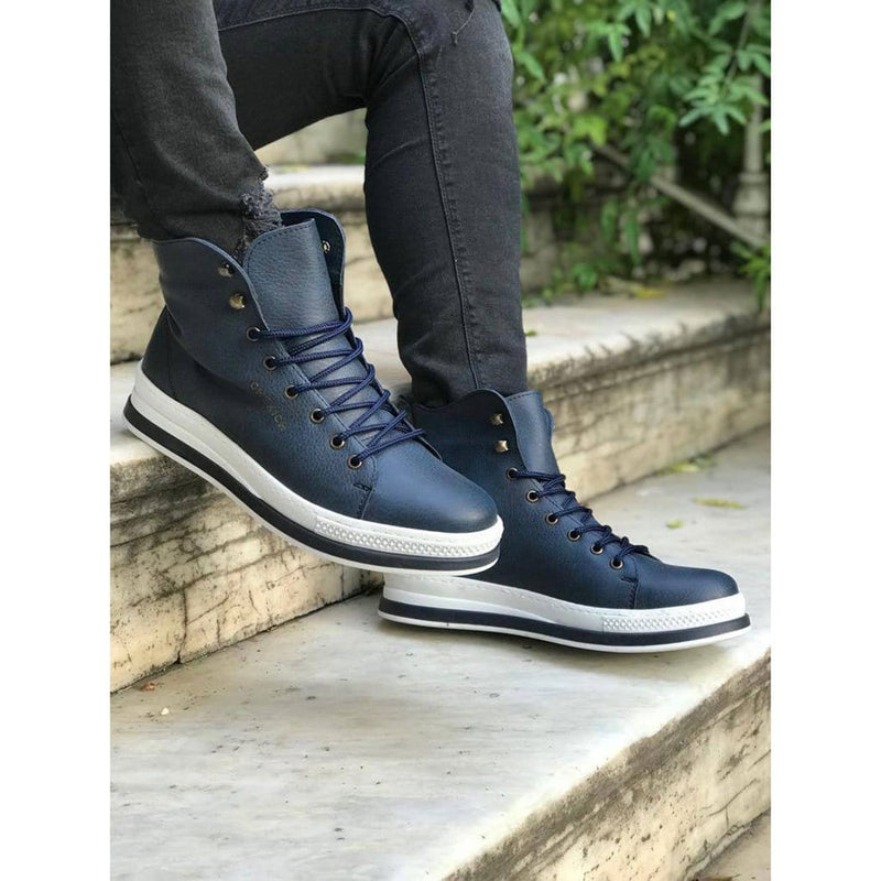 Navy_Blue_Skin_White_Sole_Men's_Boot_2