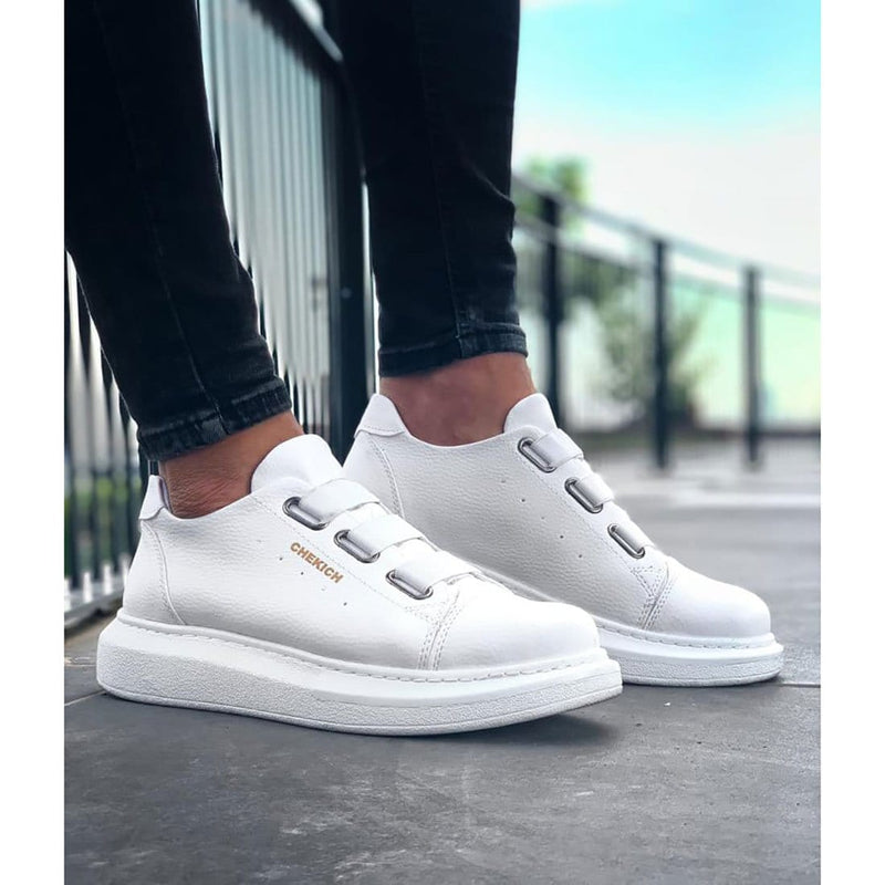 White Sole Men's Shoes White