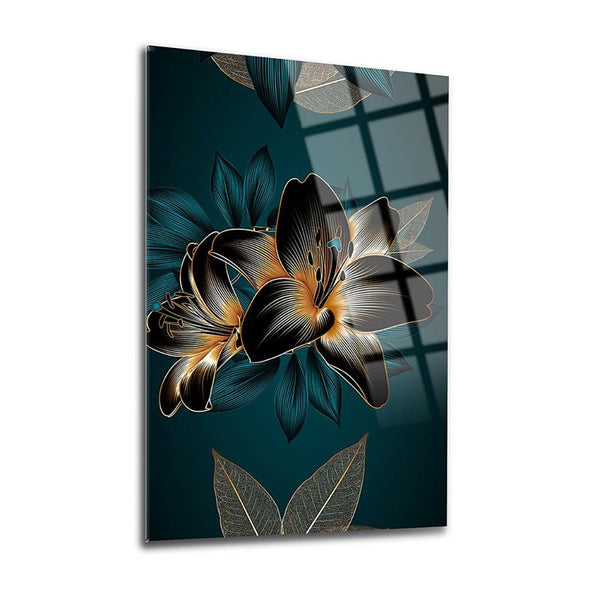 Hyacinth Leaves Glass Print Wall Art