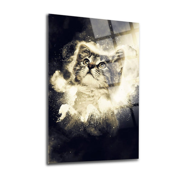 Little Cat Glass Print Wall Art