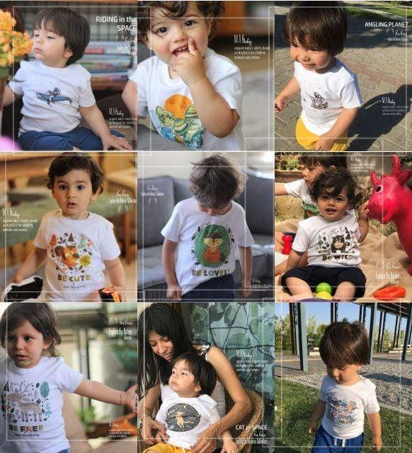 SPACE GARDEN Organic Aegean Cotton Unisex Kids T-shirt