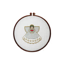 Silvery Angel Embroidery Hoop