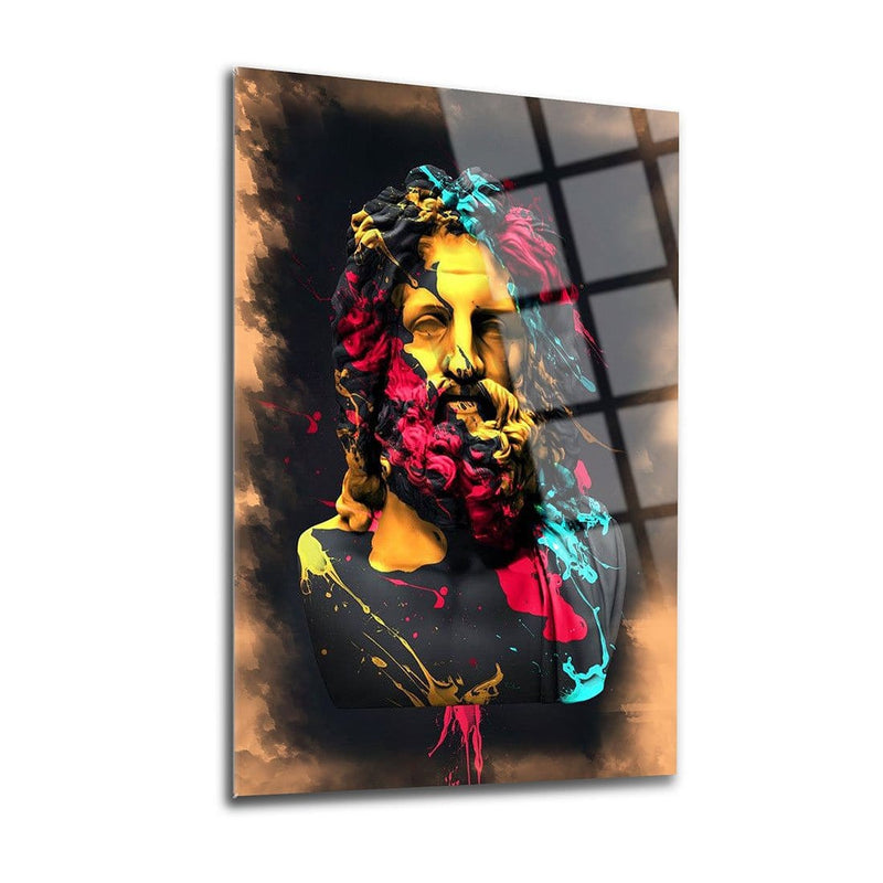 Poseidon Glass Print Wall Art